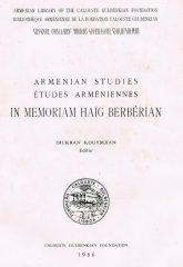 Armenian Studies – Études Arméniennes In Memoriam Haig Berbérian