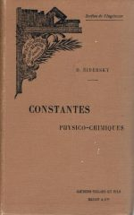 Constantes Physico-Chimiques