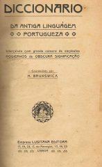 Diccionário da Antiga Linguagem Portugueza