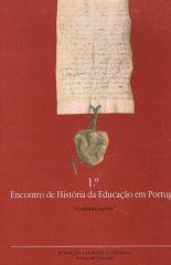 1º Encontro de História da Educação em Portugal – Lisboa 14-16 de Outubro de 1987