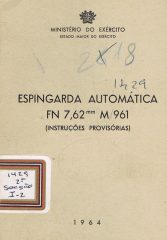 Espingarda automática FN 7,62mm M 961 (instruções provisórias)