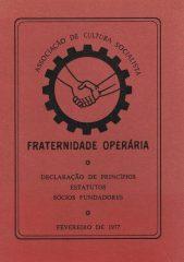 Fraternidade Operária – Declaração de princípios estatutos sócios fundadores