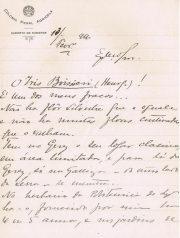 Iris Boissieri – Carta de Tude de Sousa dirigida ao Dr.Carlos França