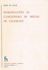 Introducción Al Cancioneiro de Miguel de Unamuno