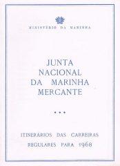 Itinerários das Carreira Regulares para 1968 da Marinha Mercante Portuguesa
