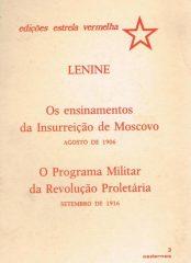 LENINE – Os ensinamentos da Insurreição de Moscovo Agosto de 1906 – O Programa Militar da Revolução Proletária Setembro de 1916