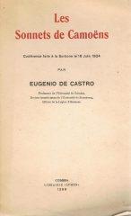 Les Sonnets de Camoens Conférence faite à la Sorbone le 16 Juin 1924