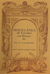 Miscelânea de Estudos em Honra do Prof. A.Costa Ramalho