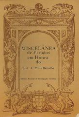 Miscelânea de Estudos em Honra do Professor A.Costa Ramalho