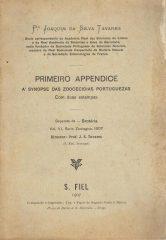 Primeiro Appendice á Synopse das Zoocecidias Portuguesas
