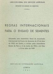 Regras Internacionais para o Ensaio das Sementes