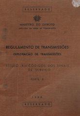 Regulamento de Transmissões Exploração de Transmissões