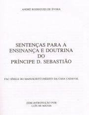 Sentenças para a Ensinança e Doutrina do Príncipe D.Sebastião
