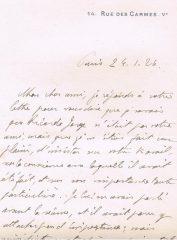 Carta de L.Tanon de Paris dirigida ao Dr.Carlos França