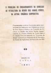 O problema do enquadramento da comissão de viticultura da região dos vinhos verdes, na actual orgânica corporativa