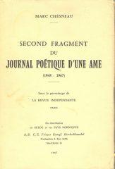 Second Fragment du Journal Poétique D'Une Ame
