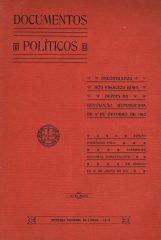 Documentos Políticos encontrados nos palácios reais depois da Revolução Republicana de 5 de Outubro de 1910