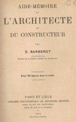 Aide-Mémoire de L'Architecte Et DuConstructeur