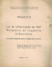 Lei da Urbanização de 1947 Relatório de Inquérito Urbanístico