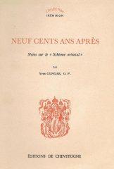 Neuf Cents Ans Après – Notes sur le Schisme oriental