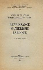 Renaissance Maniérisme Baroque